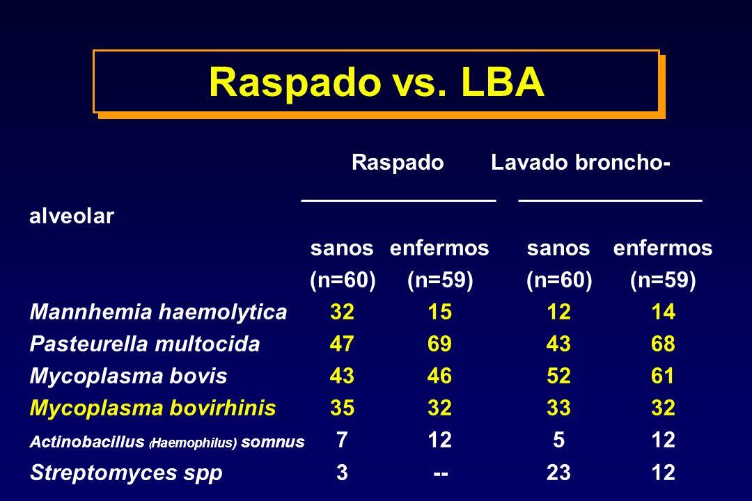 Raspado vs. LBA Raspado Lavado broncho- alveolar