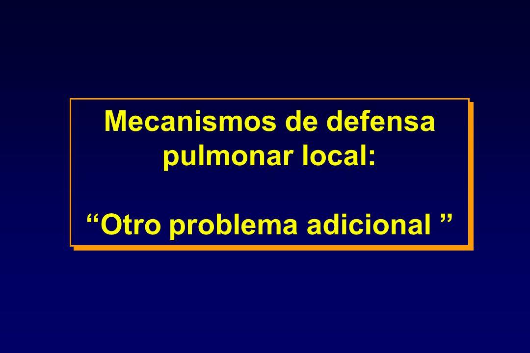 Mecanismos de defensa pulmonar local: Otro problema adicional