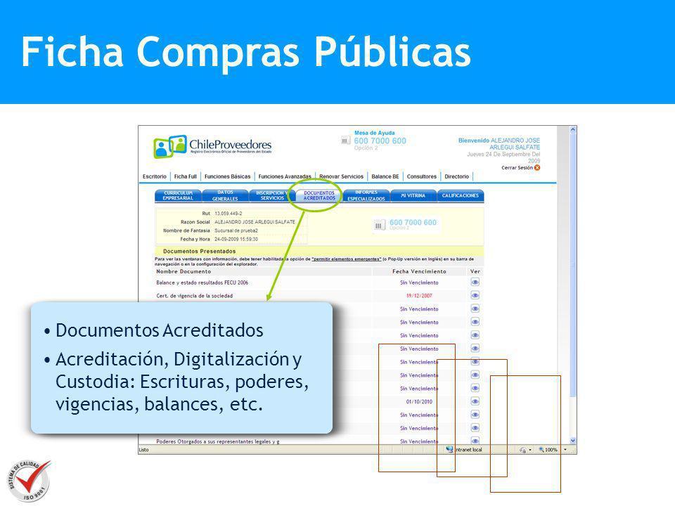 Ficha Compras Públicas
