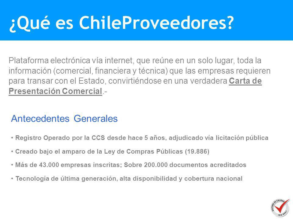¿Qué es ChileProveedores
