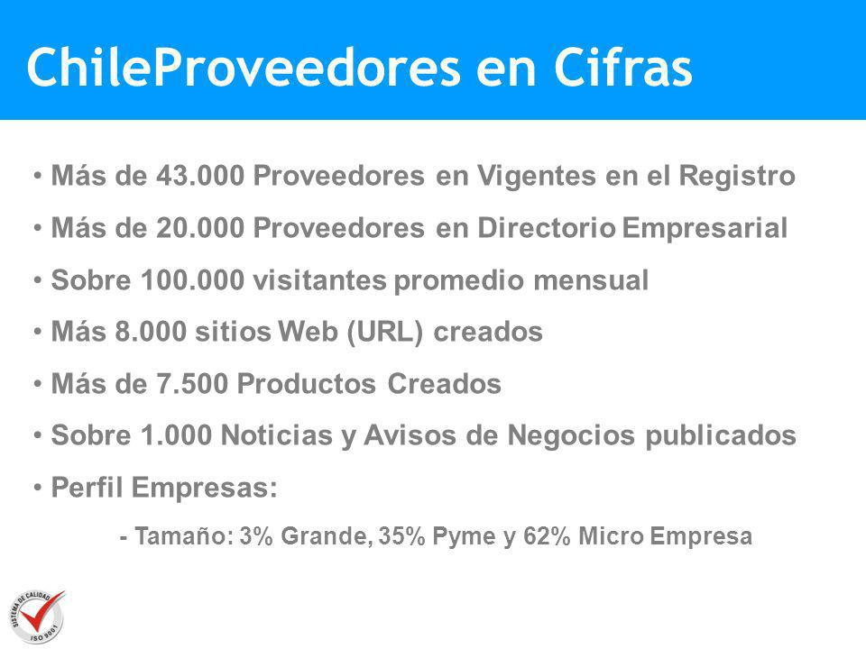 ChileProveedores en Cifras