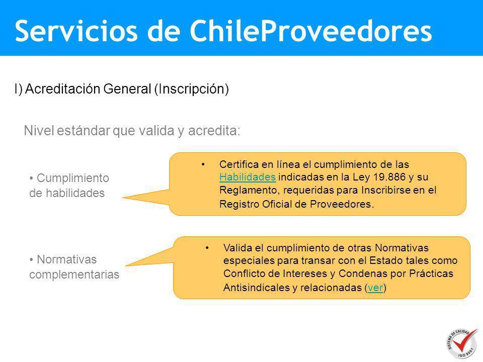 Servicios de ChileProveedores