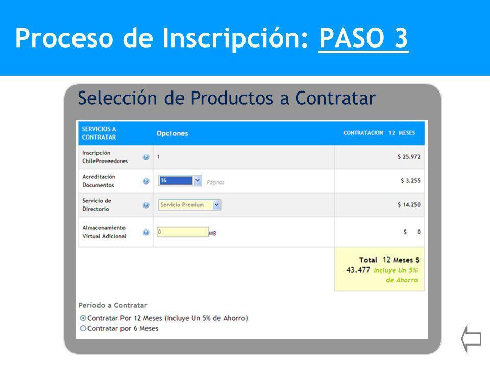 Proceso de Inscripción: PASO 3