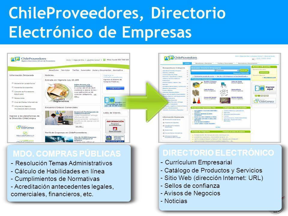 ChileProveedores, Directorio Electrónico de Empresas