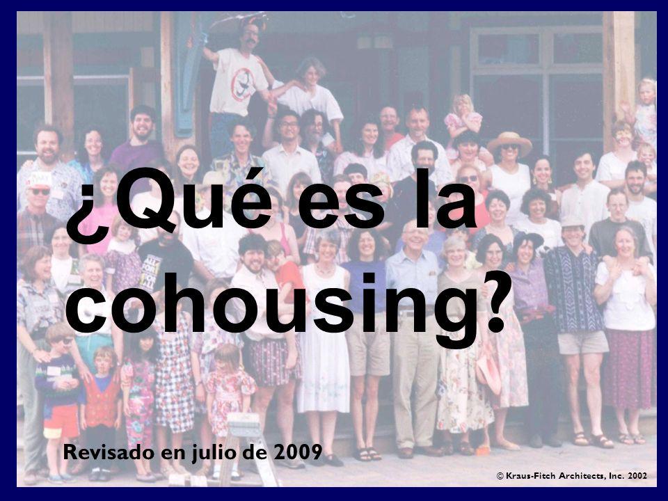 ¿Qué es la cohousing Revisado en julio de 2009