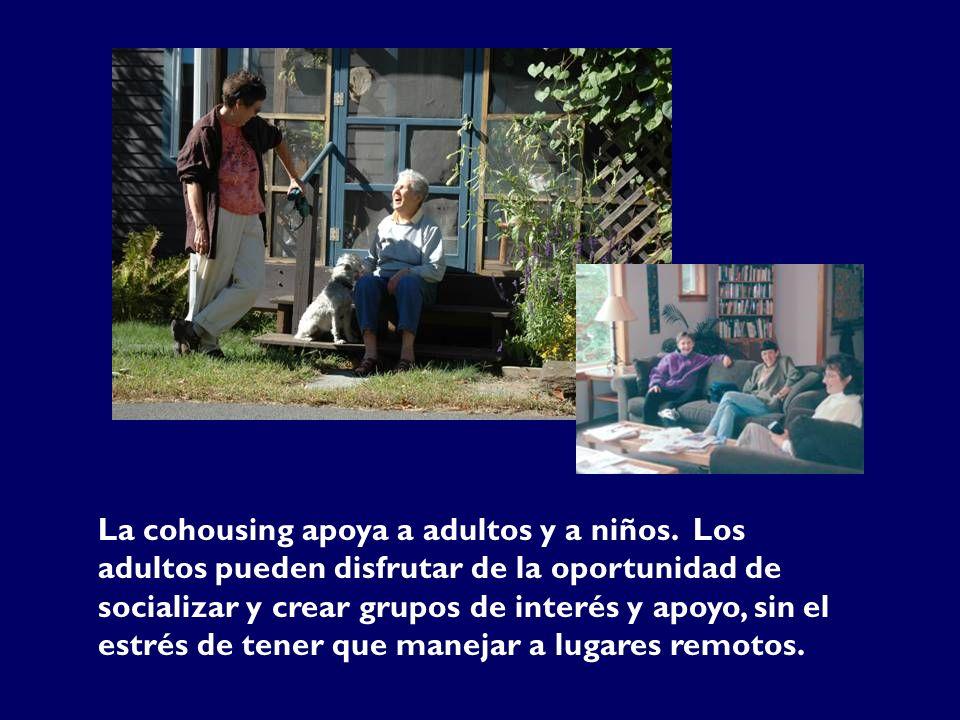 La cohousing apoya a adultos y a niños