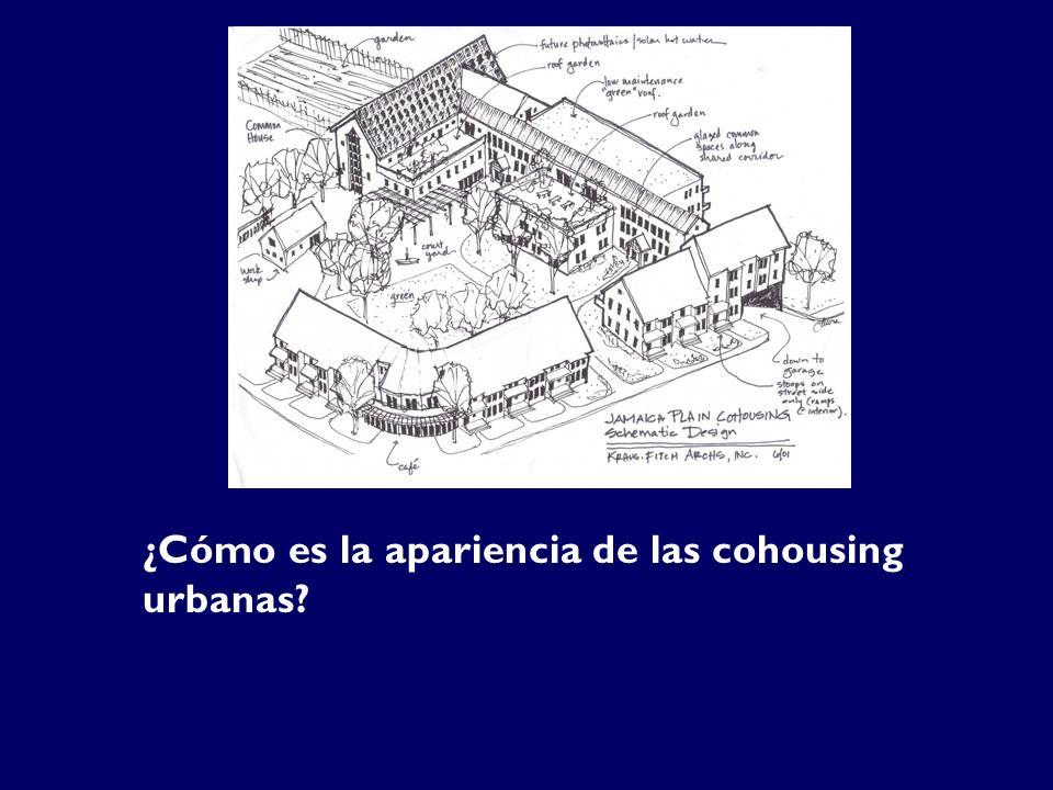 ¿Cómo es la apariencia de las cohousing urbanas