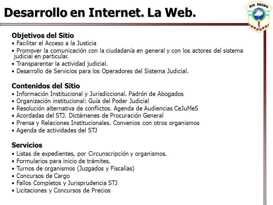 Desarrollo en Internet. La Web.