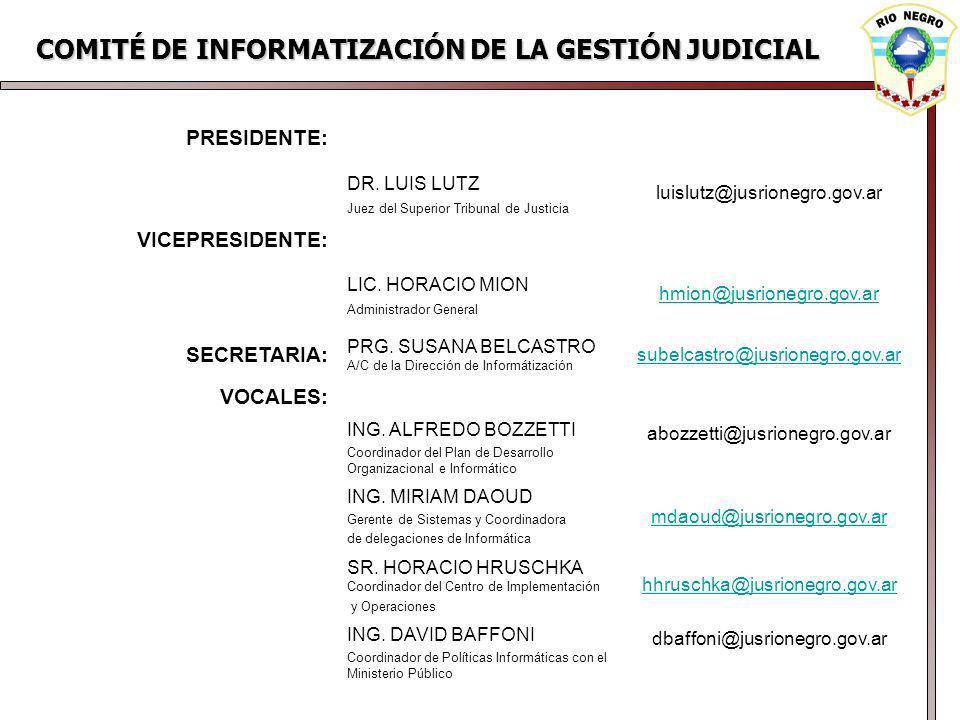 COMITÉ DE INFORMATIZACIÓN DE LA GESTIÓN JUDICIAL