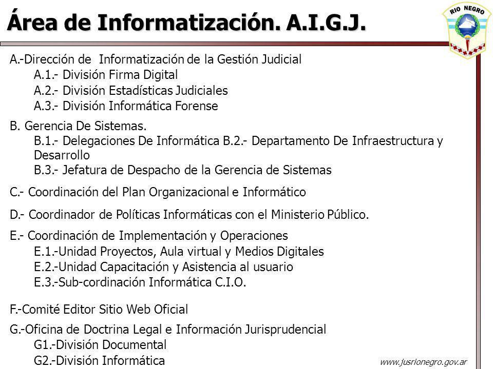 Área de Informatización. A.I.G.J.