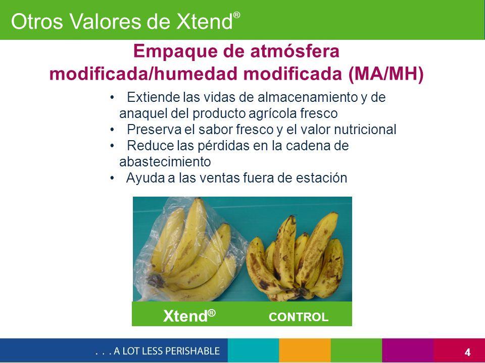 Empaque de atmósfera modificada/humedad modificada (MA/MH)