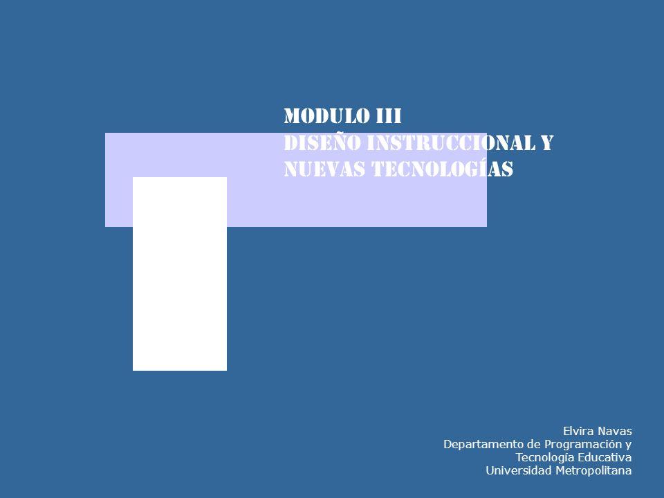 DISEÑO INSTRUCCIONAL Y NUEVAS TECNOLOGÍAS