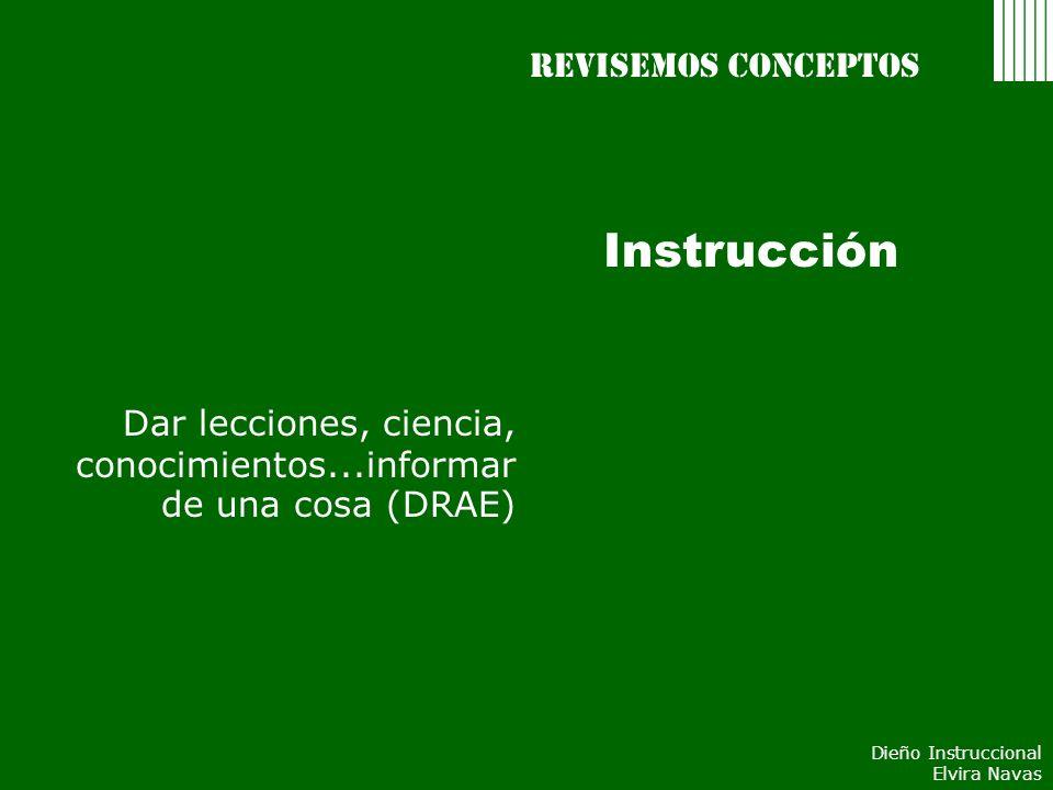 Instrucción Revisemos conceptos