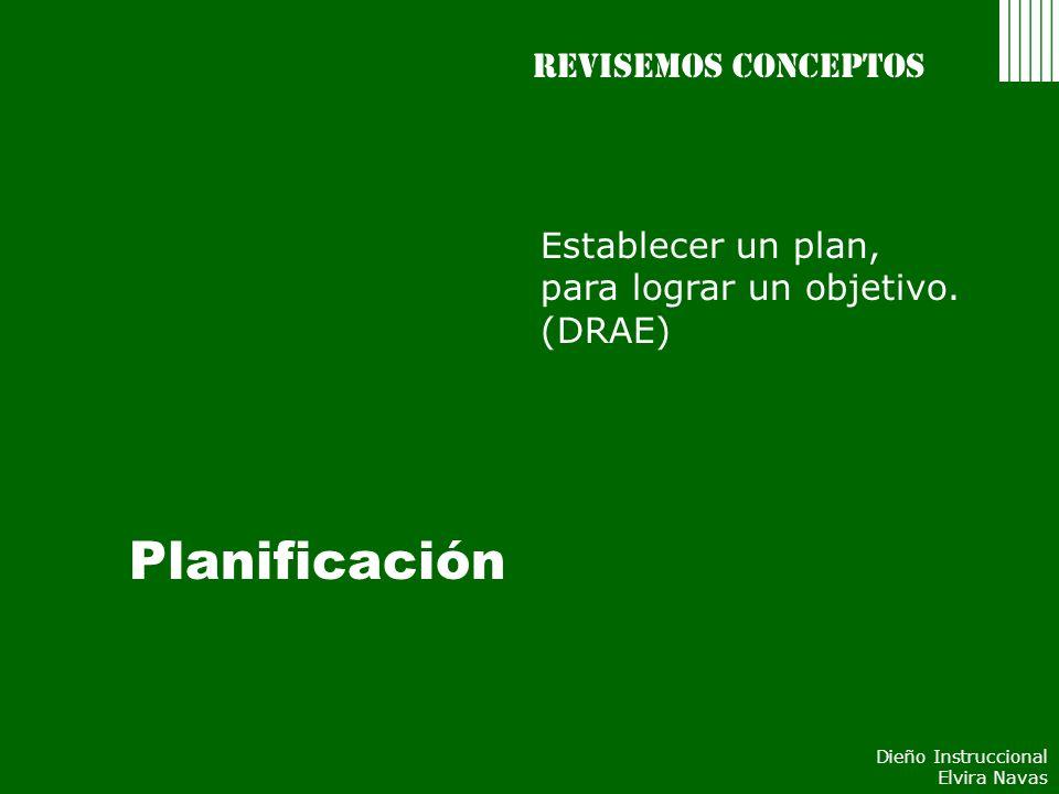 Planificación Revisemos conceptos