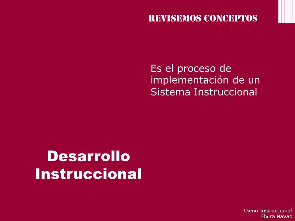 Desarrollo Instruccional Revisemos conceptos