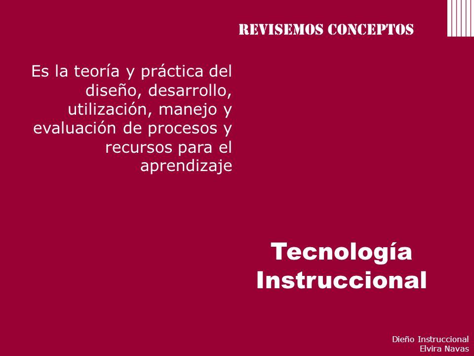 Tecnología Instruccional Revisemos conceptos