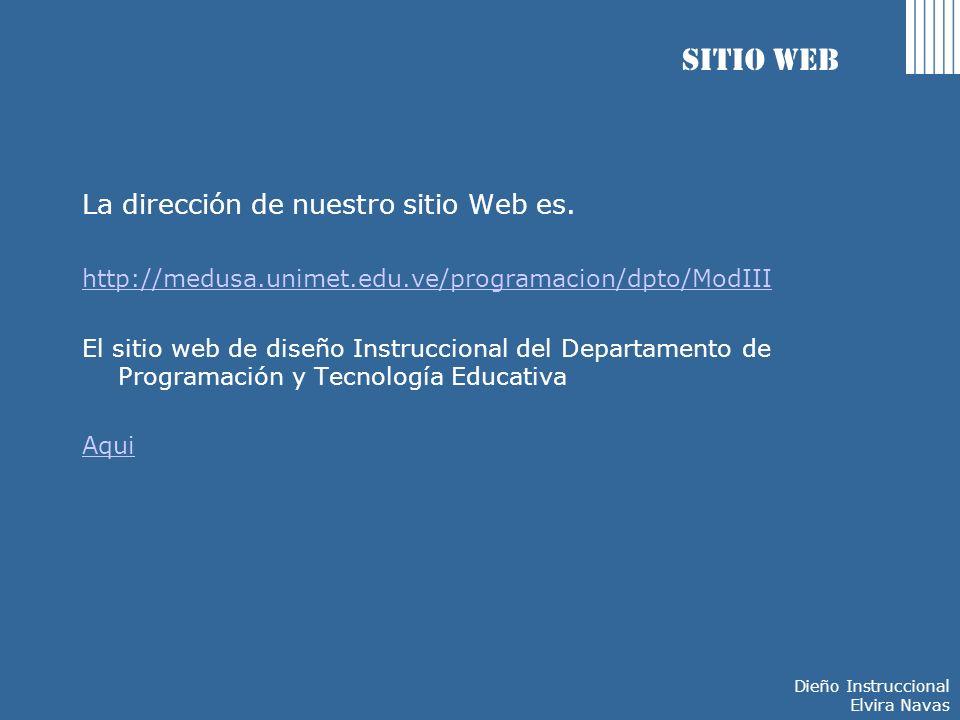 Sitio Web La dirección de nuestro sitio Web es.