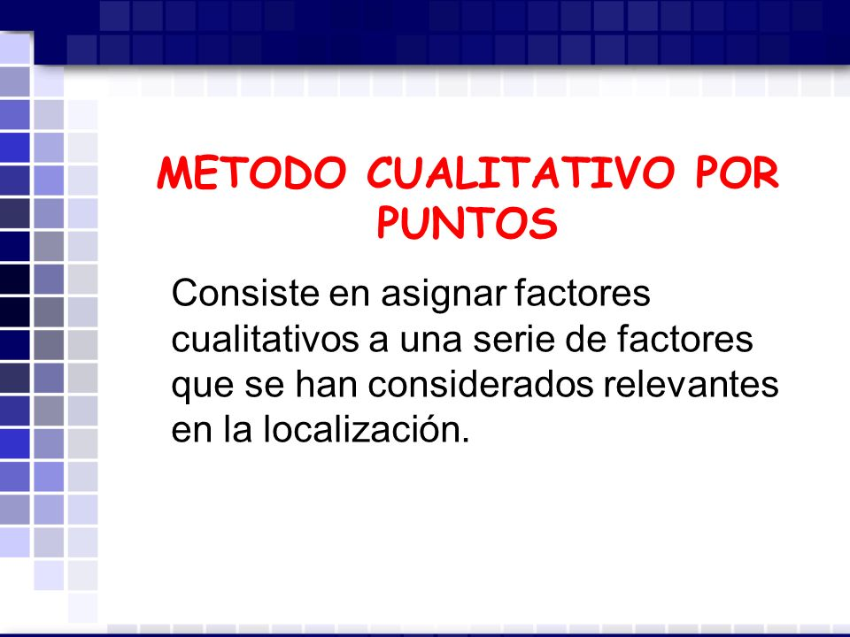 METODO CUALITATIVO POR PUNTOS