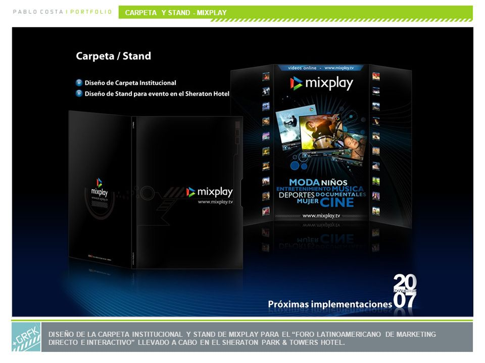 CARPETA Y STAND - MIXPLAY