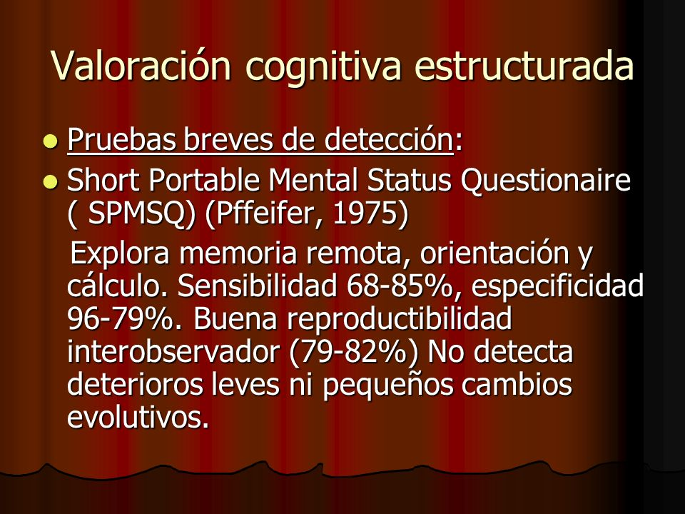 Valoración cognitiva estructurada