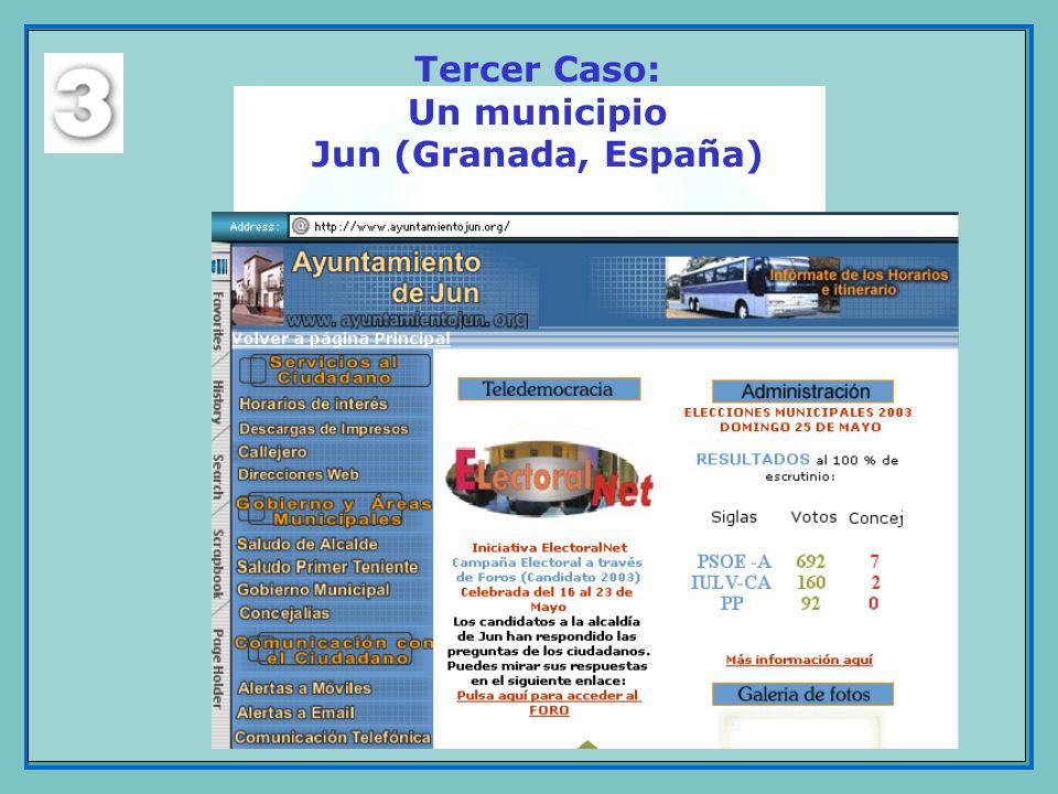 Tercer Caso: Un municipio Jun (Granada, España)
