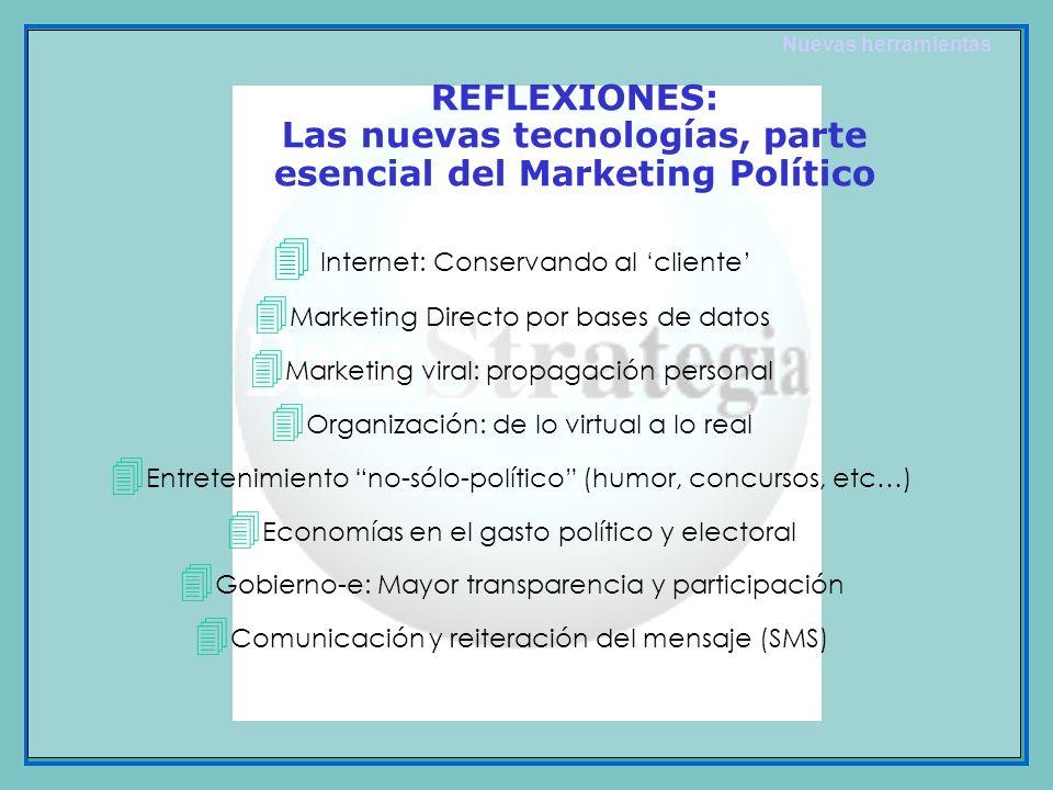 Las nuevas tecnologías, parte esencial del Marketing Político
