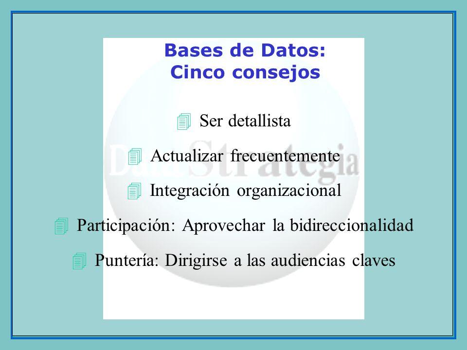 Bases de Datos: Cinco consejos