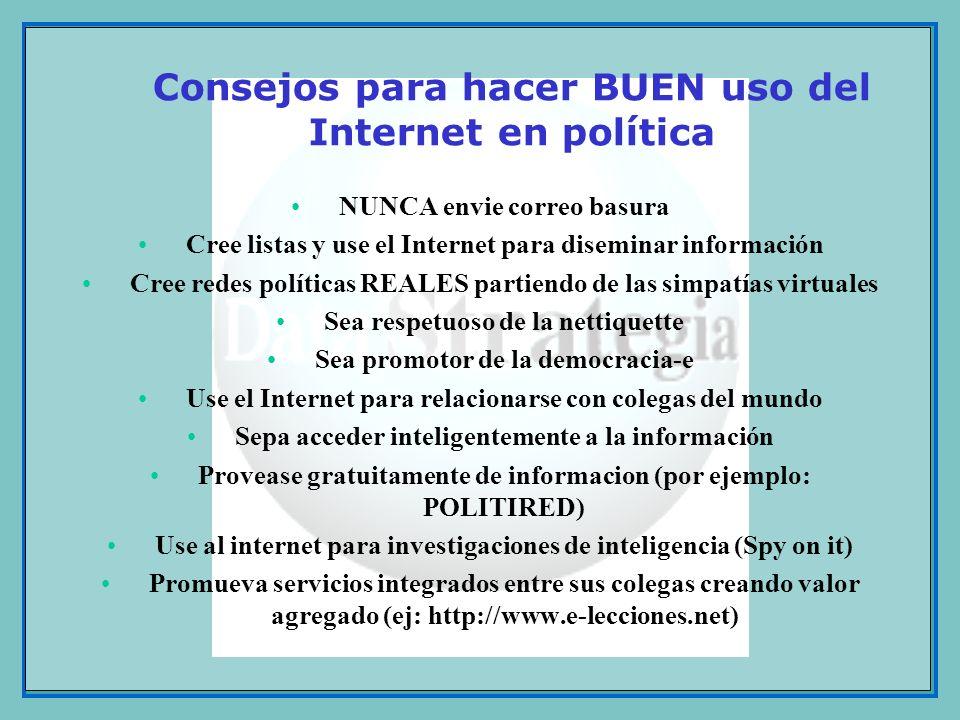 Consejos para hacer BUEN uso del Internet en política