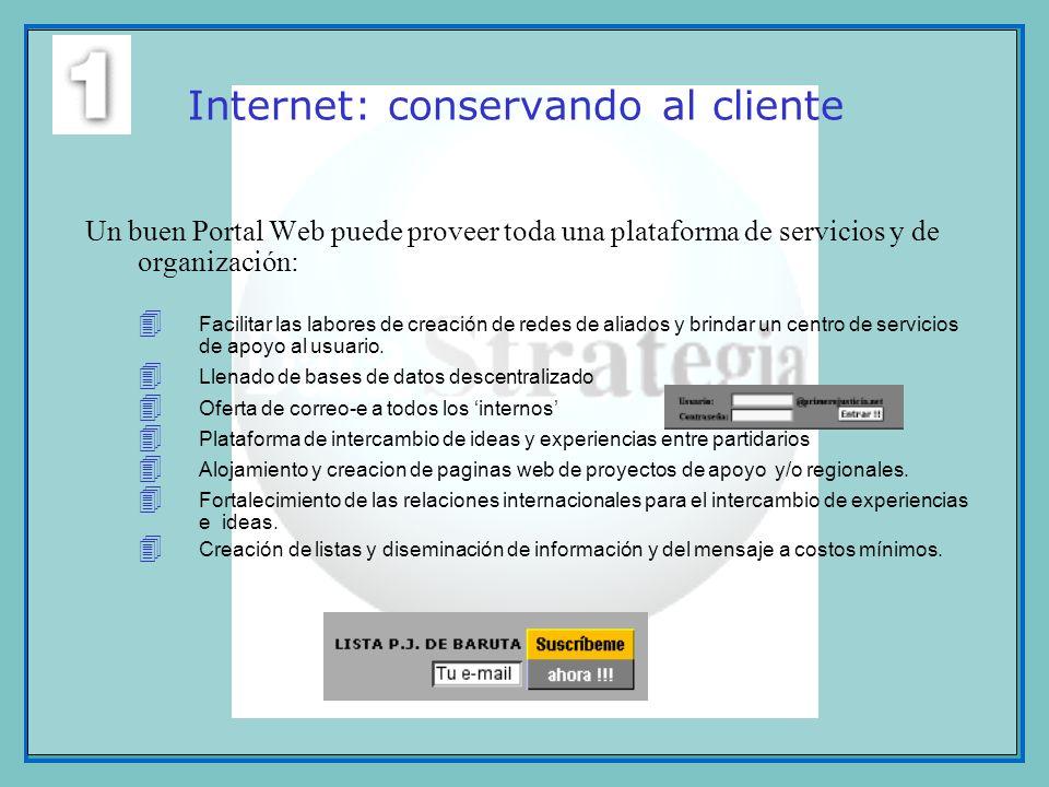Internet: conservando al cliente