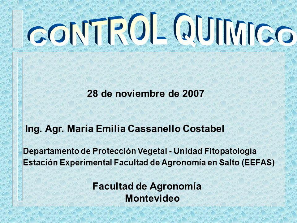 CONTROL QUIMICO 28 de noviembre de 2007