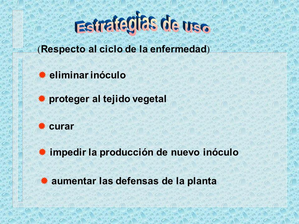 Estrategias de uso (Respecto al ciclo de la enfermedad)