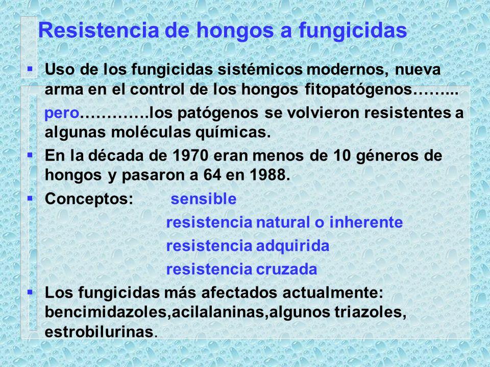 Resistencia de hongos a fungicidas