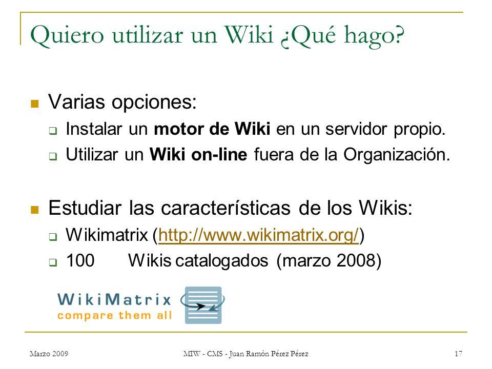 Quiero utilizar un Wiki ¿Qué hago