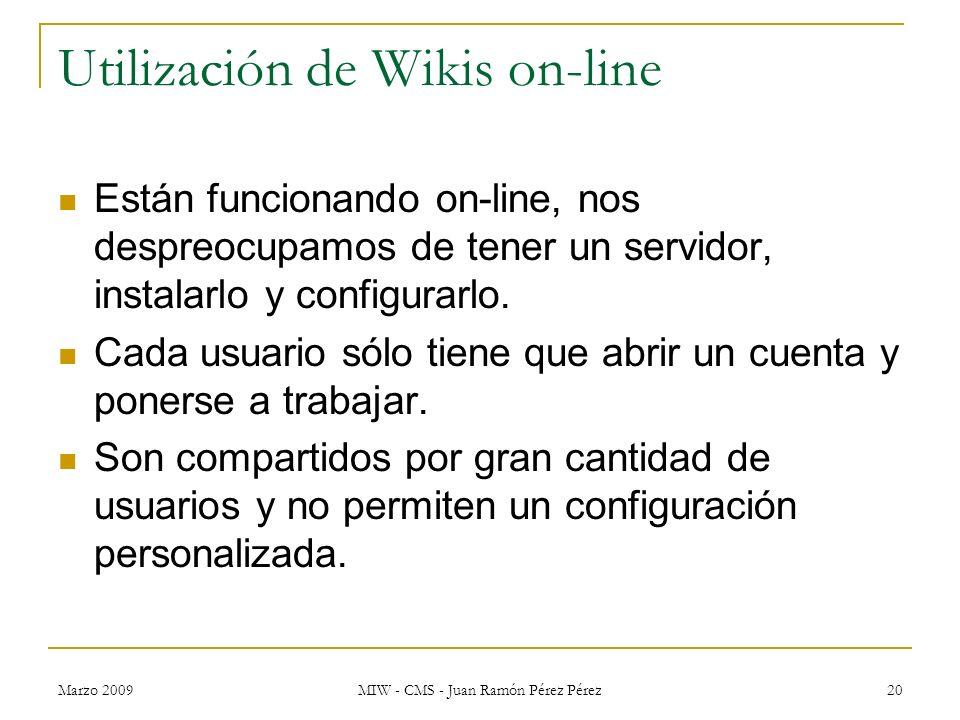 Utilización de Wikis on-line
