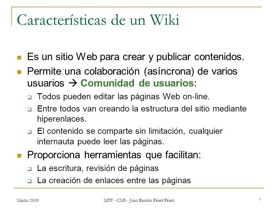 Características de un Wiki