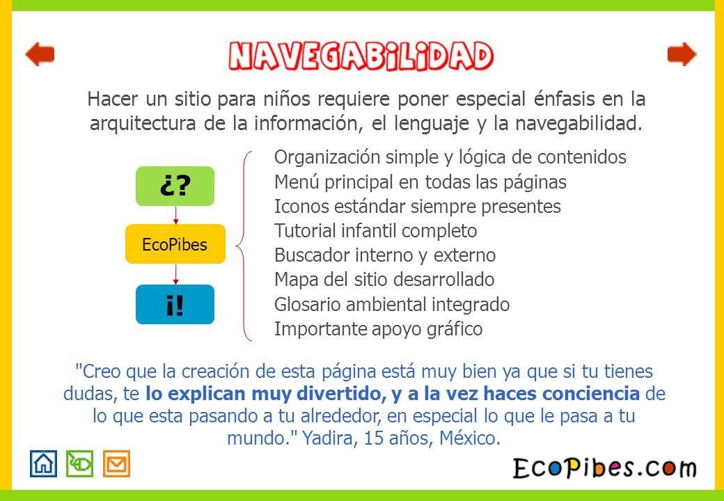 Hacer un sitio para niños requiere poner especial énfasis en la arquitectura de la información, el lenguaje y la navegabilidad.