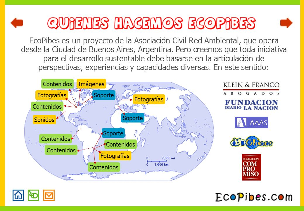 EcoPibes es un proyecto de la Asociación Civil Red Ambiental, que opera desde la Ciudad de Buenos Aires, Argentina. Pero creemos que toda iniciativa para el desarrollo sustentable debe basarse en la articulación de perspectivas, experiencias y capacidades diversas. En este sentido: