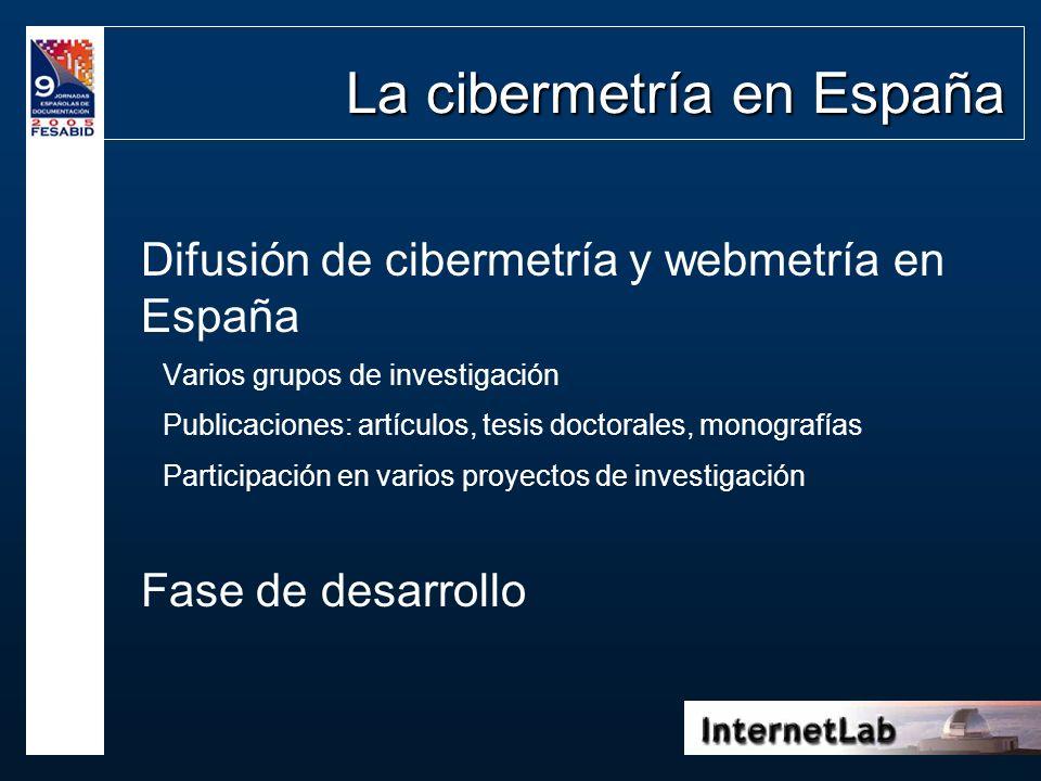La cibermetría en España
