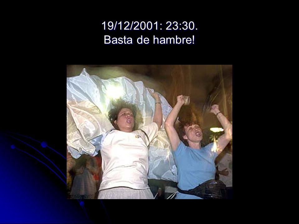 19/12/2001: 23:30. Basta de hambre!