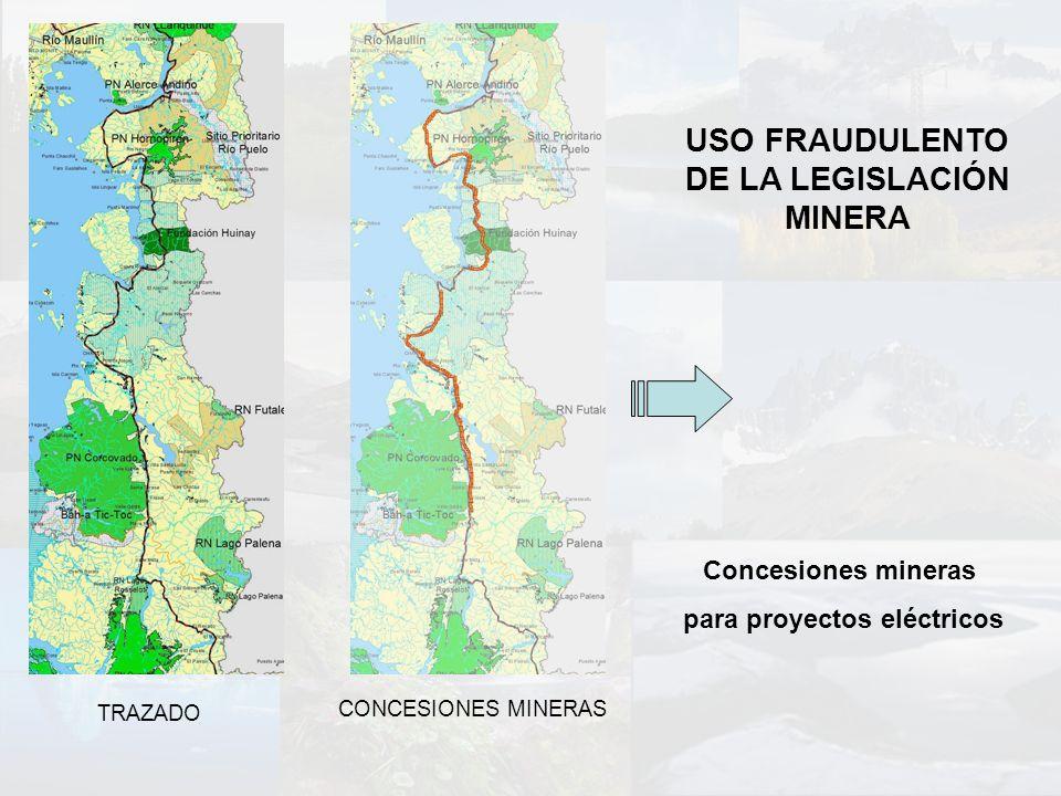 USO FRAUDULENTO DE LA LEGISLACIÓN MINERA para proyectos eléctricos