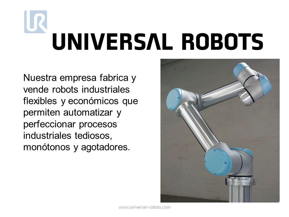 Nuestra empresa fabrica y vende robots industriales flexibles y económicos que permiten automatizar y perfeccionar procesos industriales tediosos, monótonos y agotadores.