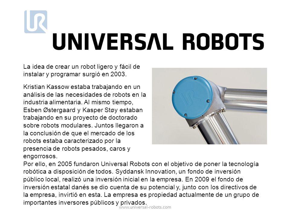 La idea de crear un robot ligero y fácil de instalar y programar surgió en 2003.