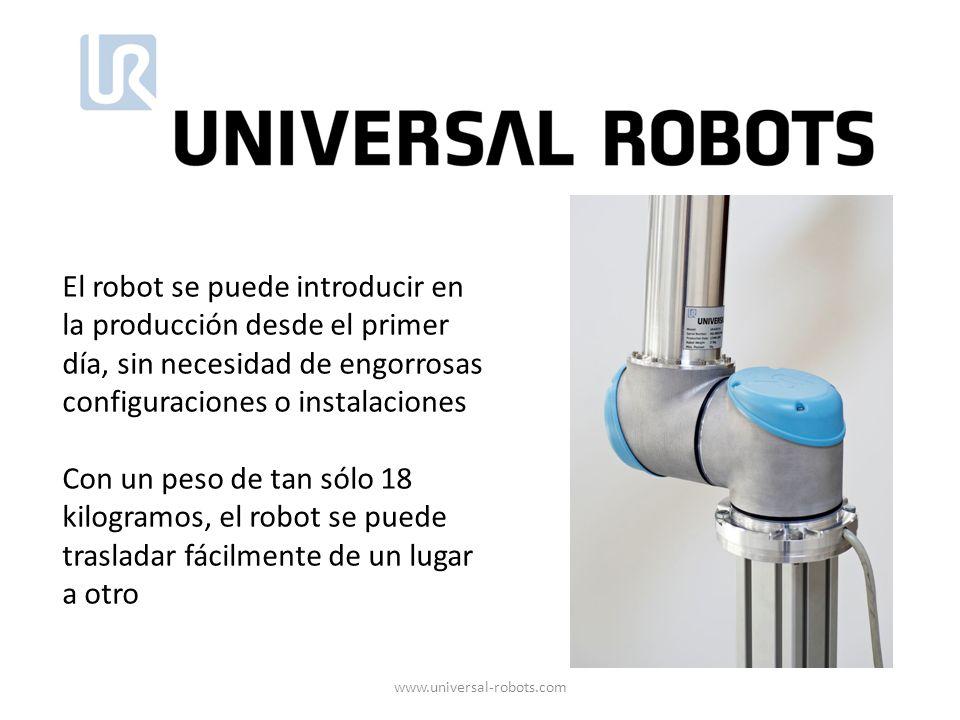 El robot se puede introducir en la producción desde el primer día, sin necesidad de engorrosas configuraciones o instalaciones