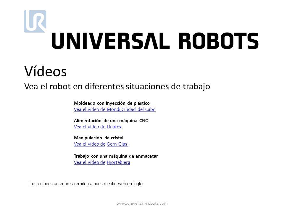 Vídeos Vea el robot en diferentes situaciones de trabajo
