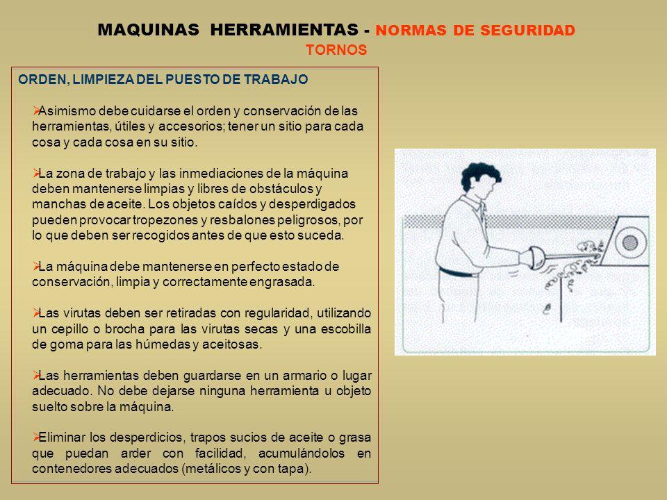 MAQUINAS HERRAMIENTAS - NORMAS DE SEGURIDAD