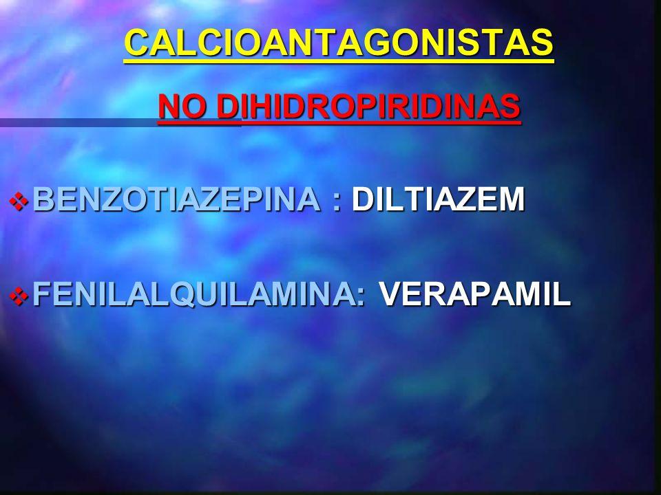 CALCIOANTAGONISTAS NO DIHIDROPIRIDINAS