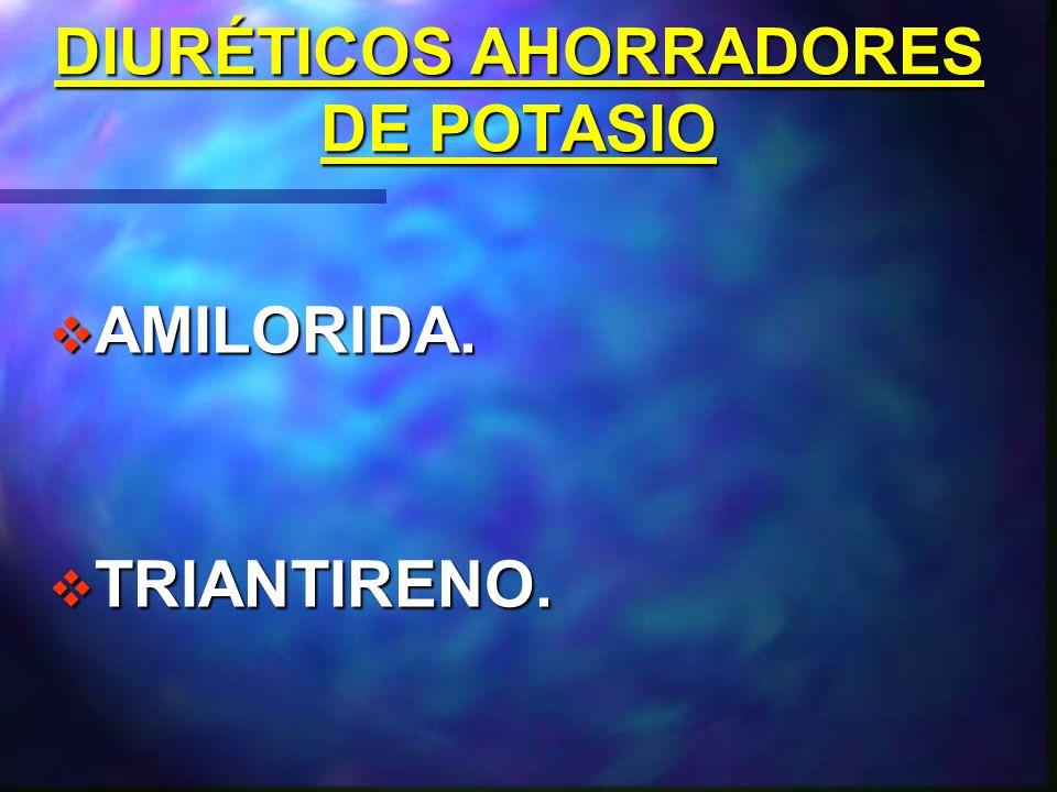 DIURÉTICOS AHORRADORES DE POTASIO