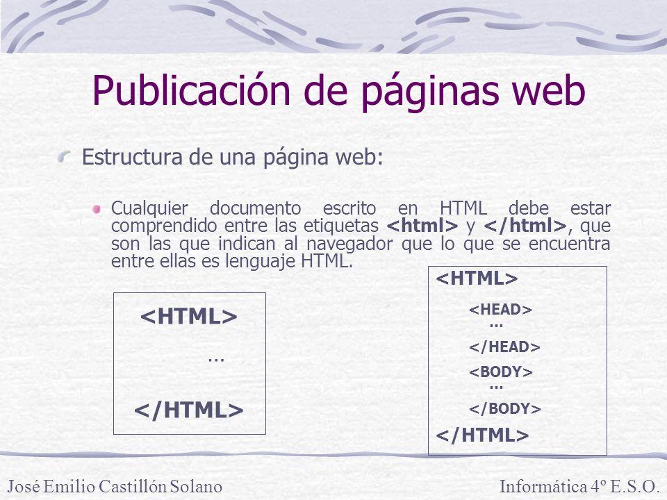 Publicación de páginas web
