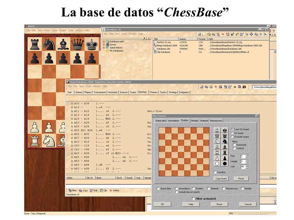 La base de datos ChessBase
