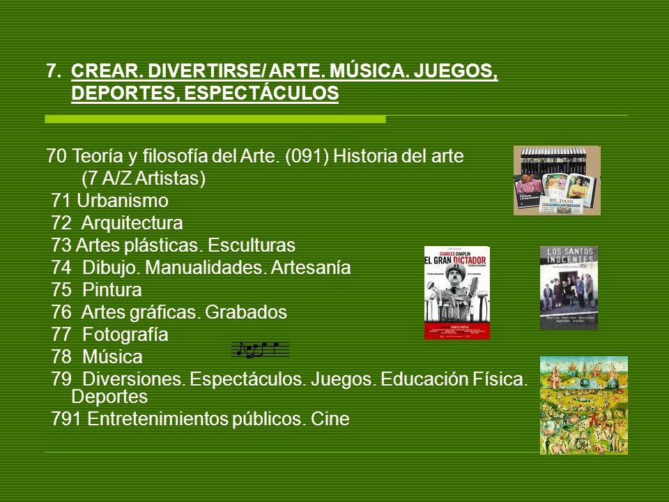 CREAR. DIVERTIRSE/ ARTE. MÚSICA. JUEGOS, DEPORTES, ESPECTÁCULOS